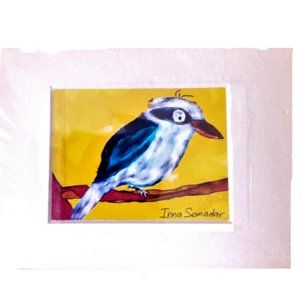 Cute original bird art print